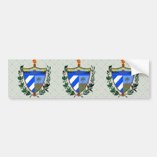 Detalle del escudo de armas de Cuba Pegatina Para Auto