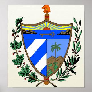 Detalle del escudo de armas de Cuba Impresiones