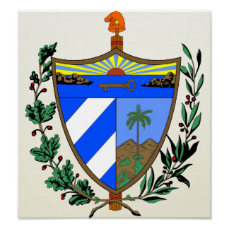 Detalle del escudo de armas de Cuba Póster