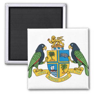 Detalle del escudo de armas de Dominica Iman De Frigorífico