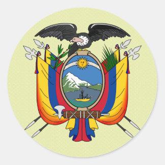 Detalle del escudo de armas de Ecuador Pegatina Redonda