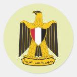 Detalle del escudo de armas de Egipto Etiqueta