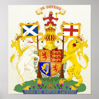 Detalle del escudo de armas de Escocia Impresiones