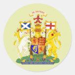 Detalle del escudo de armas de Escocia Pegatina Redonda