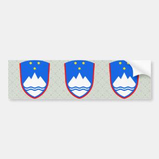 Detalle del escudo de armas de Eslovenia Pegatina Para Auto