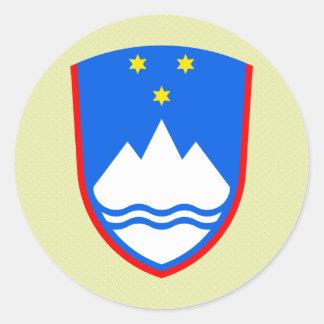 Detalle del escudo de armas de Eslovenia Pegatina Redonda