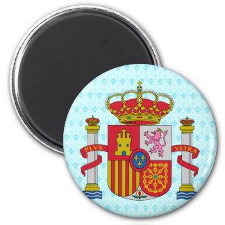 Detalle del escudo de armas de España Imán Redondo 5 Cm