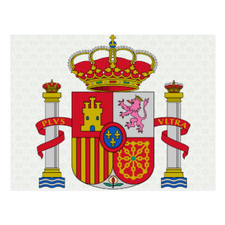 Detalle del escudo de armas de España Postal