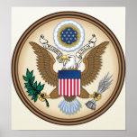 Detalle del escudo de armas de Estados Unidos Poster