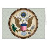 Detalle del escudo de armas de Estados Unidos Tarjeta