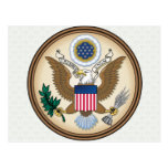 Detalle del escudo de armas de Estados Unidos Postales