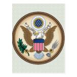 Detalle del escudo de armas de Estados Unidos Tarjeta Postal