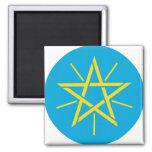 Detalle del escudo de armas de Etiopía Iman Para Frigorífico