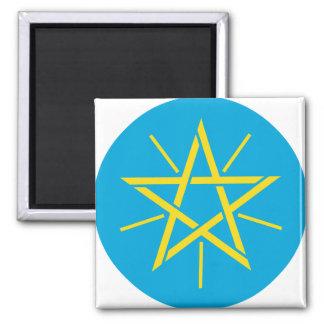 Detalle del escudo de armas de Etiopía Imán Cuadrado