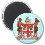 Detalle del escudo de armas de Fiji Iman