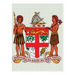 Detalle del escudo de armas de Fiji Tarjetas Postales