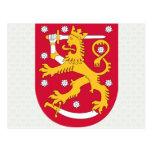 Detalle del escudo de armas de Finlandia Postales