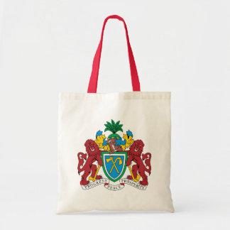 Detalle del escudo de armas de Gambia Bolsas De Mano
