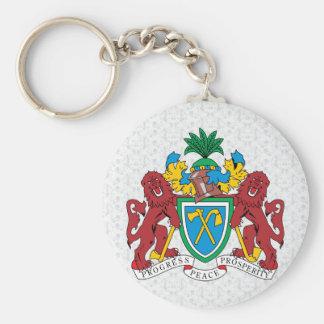 Detalle del escudo de armas de Gambia Llavero