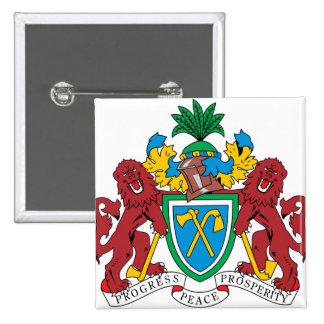 Detalle del escudo de armas de Gambia Pin