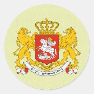 Detalle del escudo de armas de Georgia Pegatina Redonda