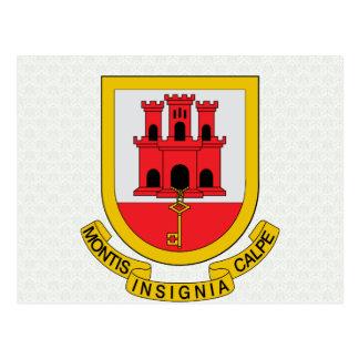 Detalle del escudo de armas de Gibraltar Postal
