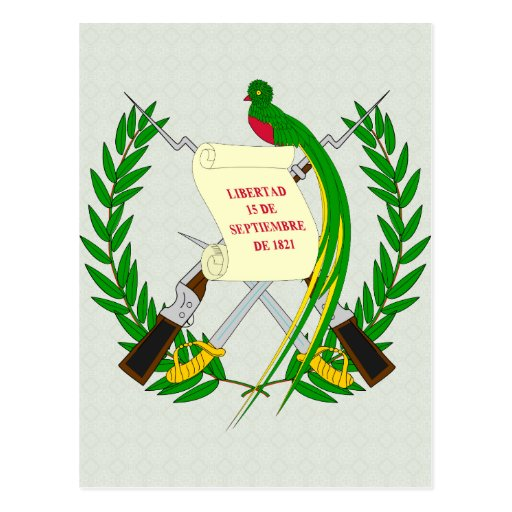 Detalle del escudo de armas de Guatemala Tarjeta Postal