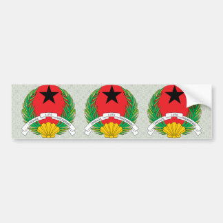 Detalle del escudo de armas de Guinea-Bissau Pegatina Para Auto