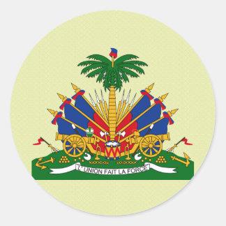 Detalle del escudo de armas de Haití Pegatina Redonda