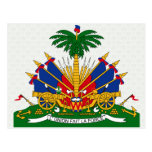 Detalle del escudo de armas de Haití Postal
