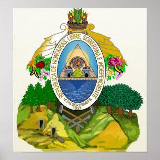 Detalle del escudo de armas de Honduras Impresiones