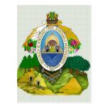 Detalle del escudo de armas de Honduras Postal