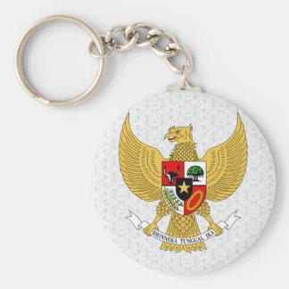 Detalle del escudo de armas de Indonesia Llavero