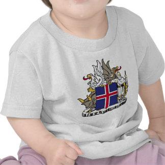 Detalle del escudo de armas de Islandia Camiseta