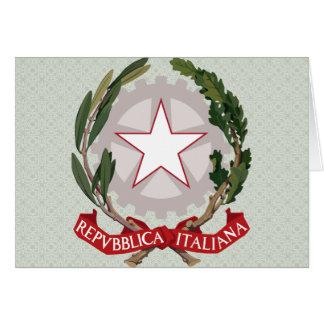 Detalle del escudo de armas de Italia Tarjeton