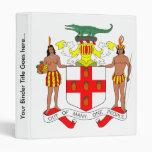 Detalle del escudo de armas de Jamaica