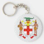 Detalle del escudo de armas de Jamaica Llaveros