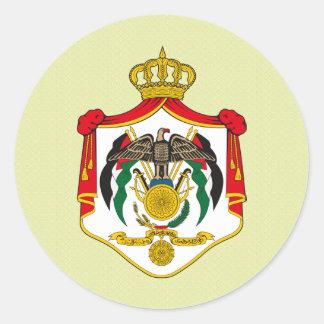 Detalle del escudo de armas de Jordania Pegatina Redonda