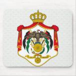 Detalle del escudo de armas de Jordania Tapete De Raton