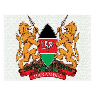 Detalle del escudo de armas de Kenia Postales