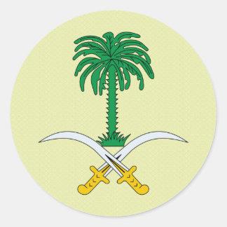 Detalle del escudo de armas de la Arabia Saudita Pegatinas Redondas