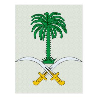 Detalle del escudo de armas de la Arabia Saudita Tarjetas Postales