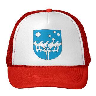 Detalle del escudo de armas de la Isla de Navidad Gorro