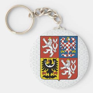 Detalle del escudo de armas de la República Checa Llavero
