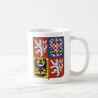 Detalle del escudo de armas de la República Checa Taza De Café