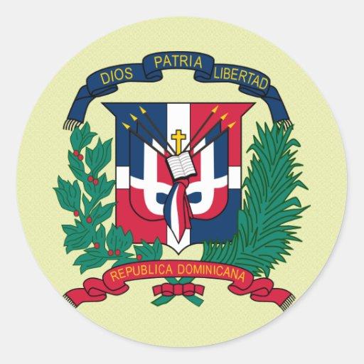 Detalle del escudo de armas de la República Pegatina Redonda