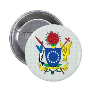 Detalle del escudo de armas de las islas de cocine pins