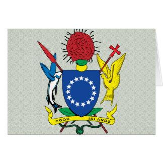 Detalle del escudo de armas de las islas de cocine felicitación