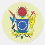 Detalle del escudo de armas de las islas de pegatina redonda
