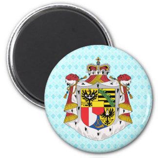 Detalle del escudo de armas de Liechtenstein Imán Redondo 5 Cm